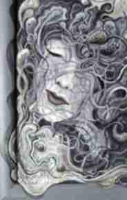 """Dyptyk """"siostry"""" pi art kobieta, portret, obraz, dyptyk"""