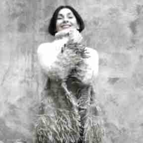 Pastelowy kudłacz swetry kozaczka dzianina, sweter, wełna