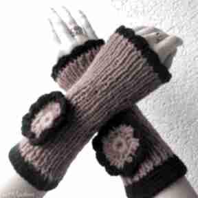 Rude mitenki rękawiczki albadesign rękawiczki, mitenki, kwiat