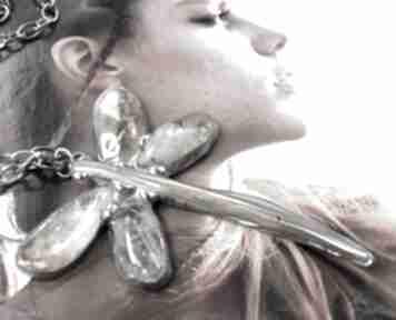 Naszyjnik: cytrynowa ważka naszyjniki witrazka wisiorek