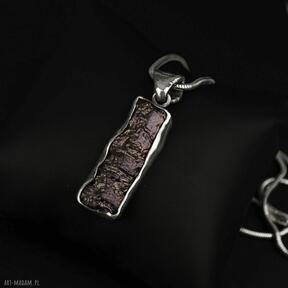 Oryginalny wisiorek na grubym łańcuszku srebro wisiorki barbara