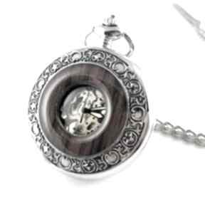 Elegancja w drewnie iii silver black dial zegarki drobinyczasu