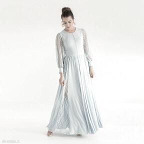 Sukienka 19 ss 2021 sukienki pawel kuzik koronkowa, długa