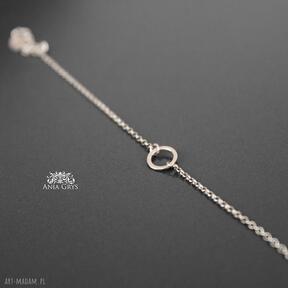 Simple beauty anna grys kółeczko, minimalistyczna, bransoletka