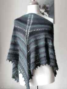 Turquoise większa chusta chustki i apaszki buenaartis rękodzieło
