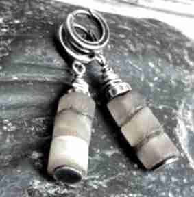 Kolczyki srebrne z bursztynami treendy bursztyn, srebro