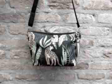 na ramię. torebka-miejska listonoszka kolorowa koty prezent
