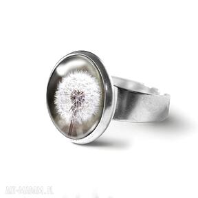Pierścionek - retro dmuchawiec liliarts pierścionek, dmuchawiec