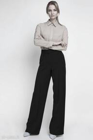 Spodnie, sd111 czarny spodnie lanti urban fashion szerokie