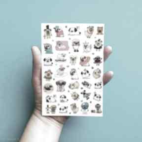 scrapbooking kartki: NAKLEJKI MOPSY Piesek