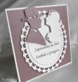 zaproszenia! zaproszenie ślub rękodzieło para perłowe