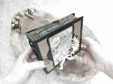 Album kwiatowy scrapbooking albumy iride handmade album