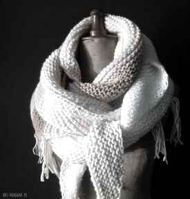 Duża ciepła chusta szaliki the wool art chusta, szal, na drutach
