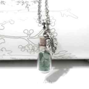 Naszyjnik - awenturyn zielony szklana fiolka naszyjniki liliarts