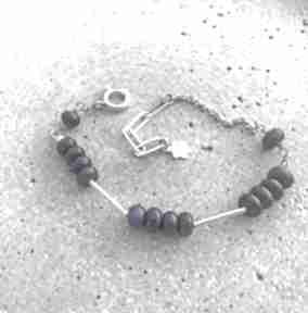 Zgustem lapis lazuli, bransoletka srebrna, srebro 925,