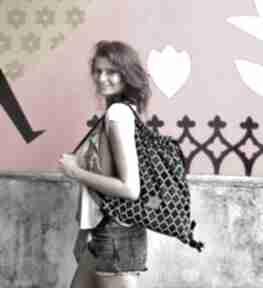 Plecak welurowy morocco black sabi tatka plecak, worek