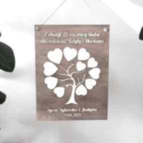 Prezent na ślub, rocznicę - drzewko księgi gości biala konwalia