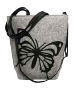 Shopper bag motyl na ramię czechdraft filc, torebka,