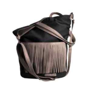Granatowy frędzel torebki czechdraft shopper, torba, torebka