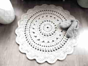 Dywan ręcznie wykonany 90 cm wools dywan, dywanik, chodnik