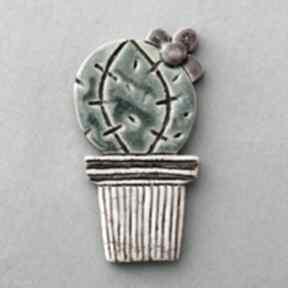 Upominek świąteczny? Oo kaktus-magnes ceramiczny magnesy kopalnia