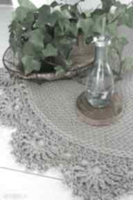 Dywan bawełniany z koronką 120 cm w4design dywan,