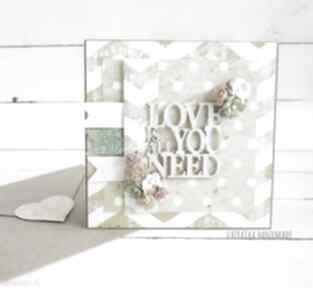 Love all you need 687 karka miłość kartka ważnym przesłaniem