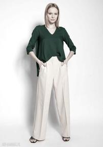 Luźne spodnie - sd111 beż lanti urban fashion do pracy, szkoły