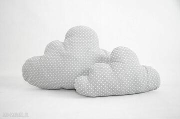 Duża poduszka chmurka szara w kropeczki pokoik dziecka nunli