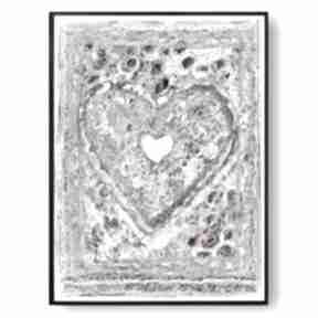 Grafika w ramie prowansalskie serce 30x40 renata bulkszas serce