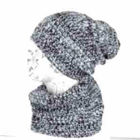 Zestaw czapka z kominem ciepły czapki godeco czapka, komin