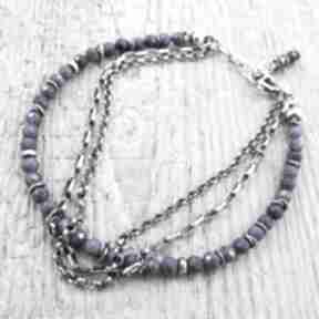 Lapis lazuli z łańcuszkami - bransoletka irart lazuli,