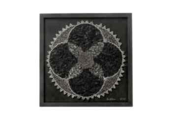 Mandala glamour asamblaż upcyclingowa dekoracja ścienna
