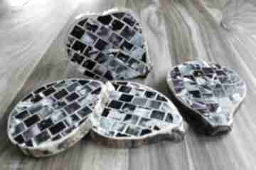 Drewniane podkładki - mozaika 5 nook design handmade mozaika