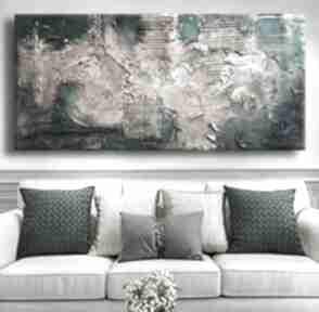 Noble emerald - wielkoformatowy obraz na płótnie abstrakcyjny