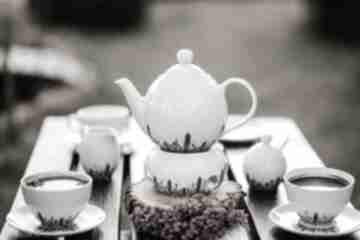 Zestaw porcelany do kawy i herbaty kwitnąca łąka kubki pracownia