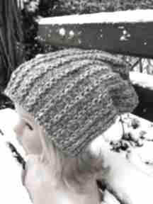 Czapka beanie długa czapki lubaknits na drutach, ciepła czapka