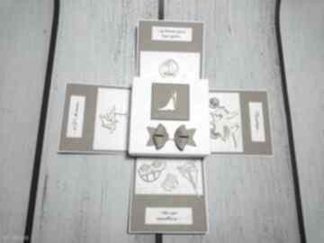 Stylowe eksplodujące pudełeczko ślubne w stylu eko kartki the