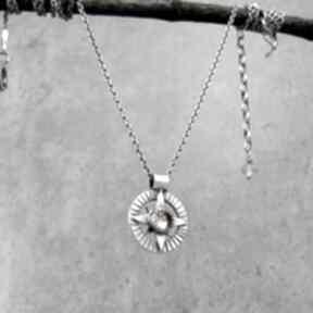 Talizman wędrowca - naszyjnik kompas z cytrynem naszyjniki amade