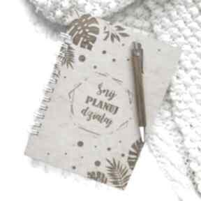 Notes w drewnianej oprawie - tropiki notesy biala konwalia notes