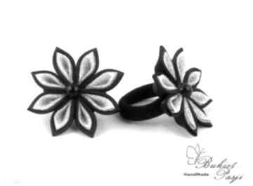 Zamówienie indywidualne gumek kwiatuszkami opaska zgodne