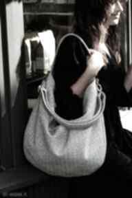 Worek na ramię z plecionej tkaniny tapicerskiej torebki bags