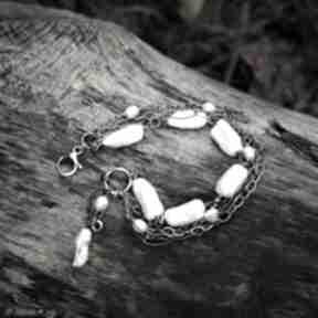 Bransoletka z pereł magdalena markowicz biwa, perły, z-perłami