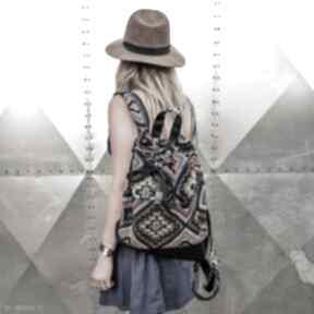 Worko plecak boho godeco plecak, aztecki pojemny worek