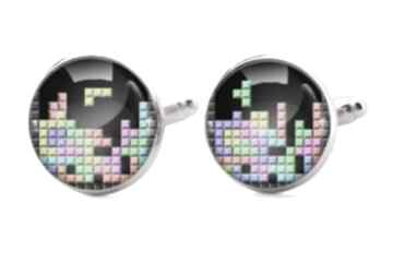 Tetris 0904 spinki mankietów geek retro gracz ręcznie robione