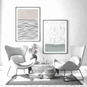 Zestaw 2 plakatów - 30x40 cm plakaty hogstudio abstrakcja