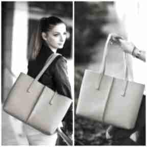 na ramięfilc filcowa cielisty minimalizm zakupowa torebka