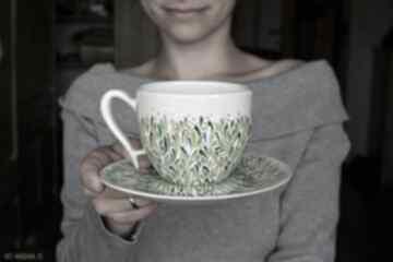 Ciepliki: Filiżanka dla mamy ręcznie malowana