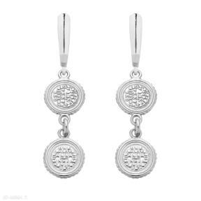 Srebrne kolczyki z monetami sotho monety, moneta, wiszące
