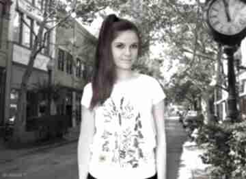 Bluzka damska ręcznie malowana łąka koszulki freefroo koszulka